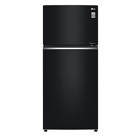 LG GN-C702SGGU - 547L/19.28ft³ Double Door Fridge with Black Finishing