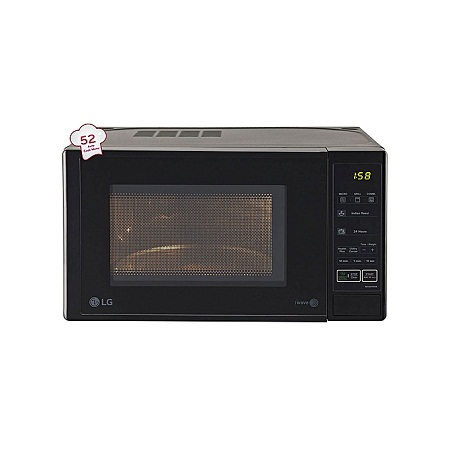 LG MH6044DB - 20L Grill with Glass Door Microwave - Black