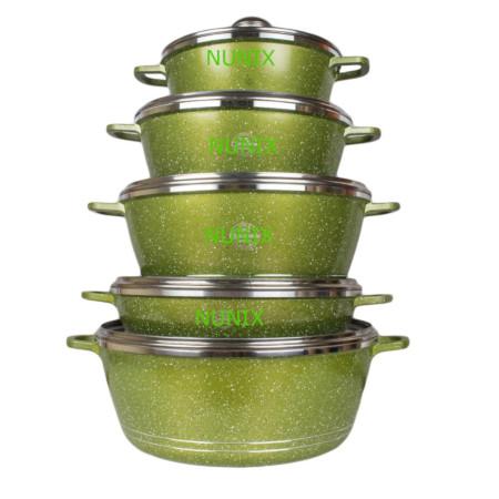 Nunix Scratch-Proof,Nonstick Granite-Coated Cooking Pot