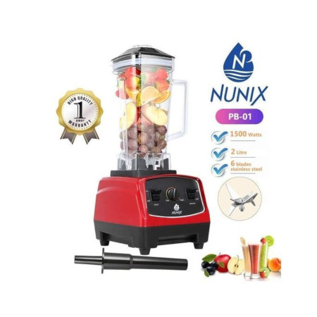 Nunix Heavy Duty Commercial Blender High Speed Grade