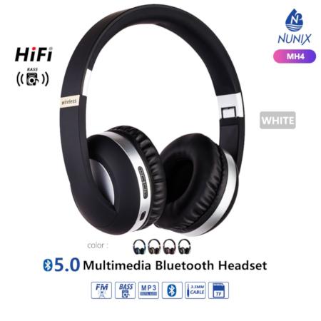 Nunix Bluetooth Headphone Silver