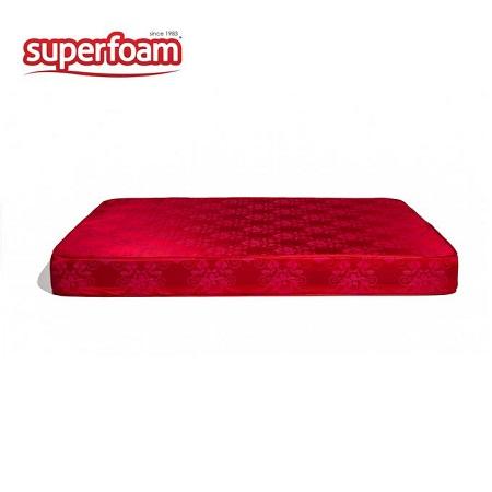 Superfoam High Density Plain fabric Foam Mattress - Multicolored