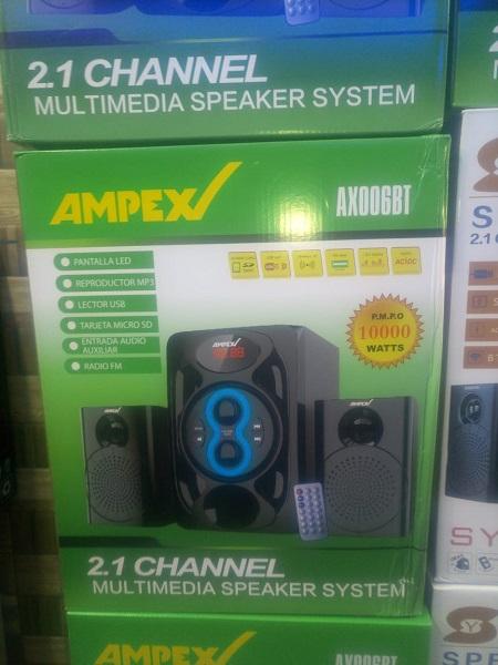 Ampex HIFI XBASS HITECH SYSTEM 10000W BT/USB/FM