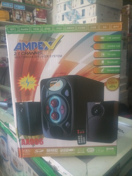 Ampex 2.1 ch 8500w PMPO Subwoofer System - Bluetooth/USB/SD/FM