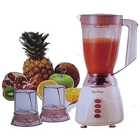 Signature 3 in 1 Blender with Grinder - 1.5 Litres - Classic Cream .