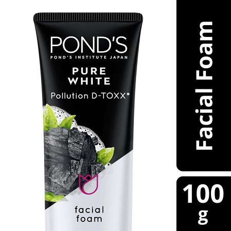 Pond's Pure White Pollution D-Toxx Foam-activated Charcoal&greentea