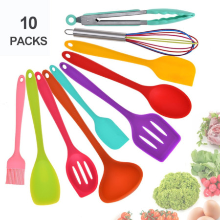 Silicone spoon mixed colors