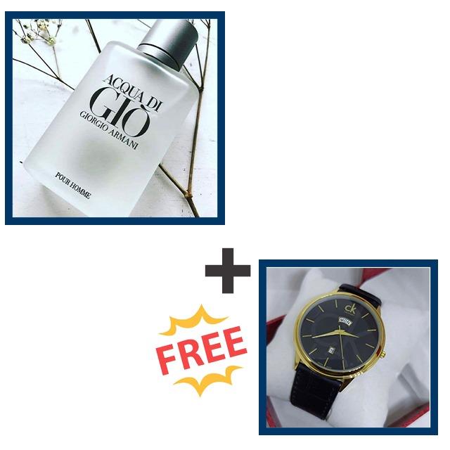 Acqua di gio perfume plus free Calvin Klein watch