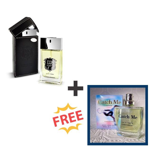 Dx 77 perfume plus free Catch me man perfume