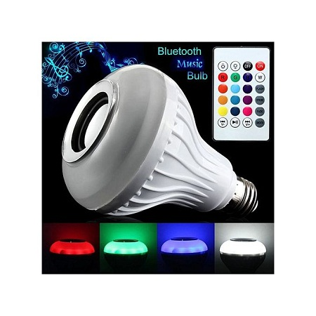 LED Light Bulb With Speaker Bluetooth Smart Music Bulb - Multi-Color