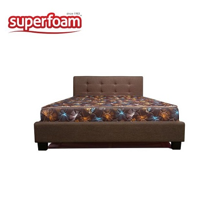 Superfoam High Density Quilted Foam Mattress - Brown 6 x 6 x 6