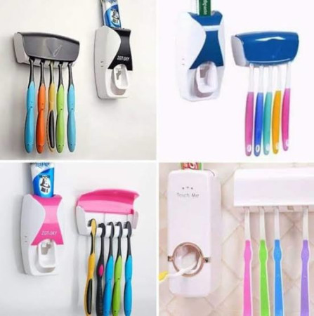 Tooth paste and toothbrush holder