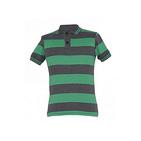 Zecchino Green and Grey Stripped Polo Shirts