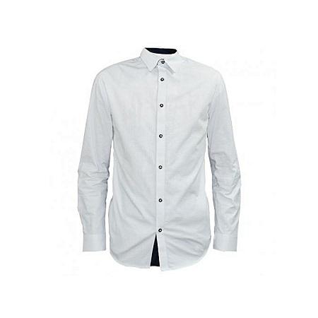 Zecchino White Men's Long Sleeved Formal Shirts