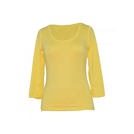 Forever Young Yellow Long Sleeved Womens Tops