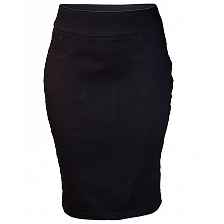 Forever Young Black Women's Pencil Skirt