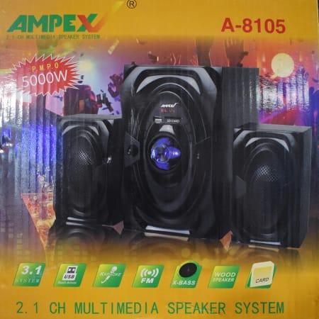 Ampex 2.1CH SubWoofer Multimedia Speaker System A8105- BT,SD,USB,FM