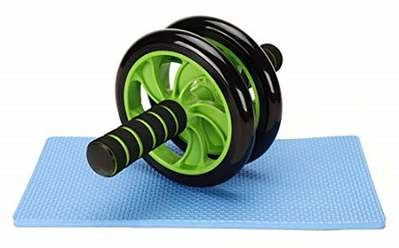 Abs Roller Workout Exerciser Wheel With FREE Knee Mat Green ONE SIZE