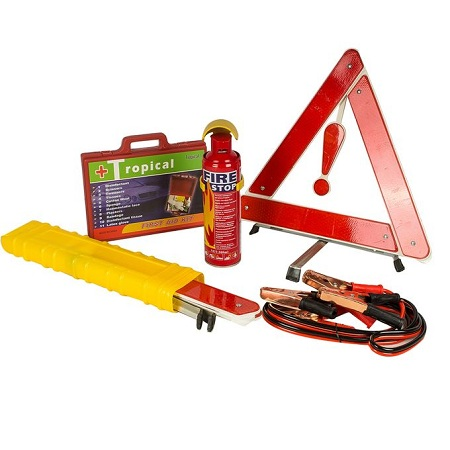 Car Life Saver + Fire Extinguisher + First Aid Kit + Jumper