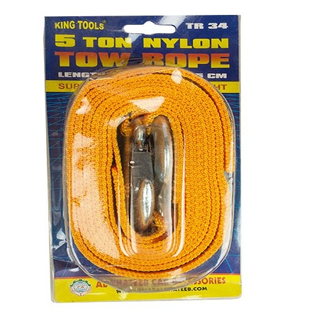 Car Trailer Towing Rope With Hooks Emergency Vehicle Tool