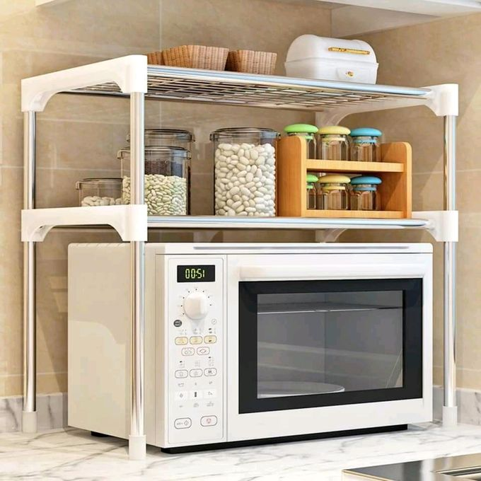 Generic Expandable Stainless Steel Microwave Organizer