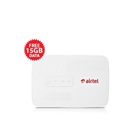 Airtel 4G Portable MiFi WiFi Modem + 15GB FREE Data - White