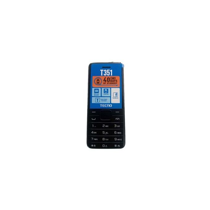 Tecno T351 Dual Sim, Camera - Torch - FM Radio - 1900mAh _Black