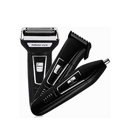 Geemy 3 In 1 Rechargeable Hair And Beard Shaving Machine