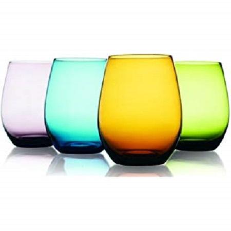 Oval coloured glasses  6 PCs