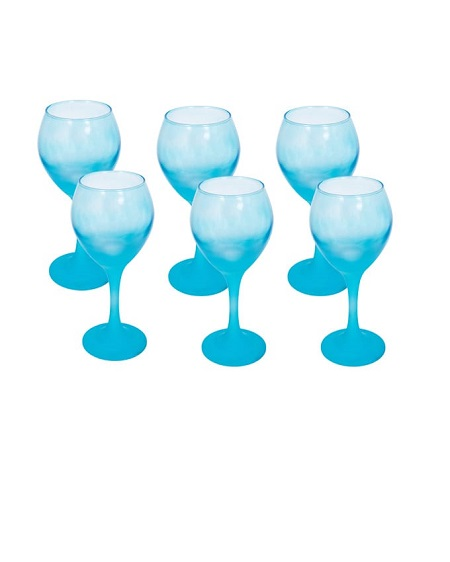 Wine glass blue coloured