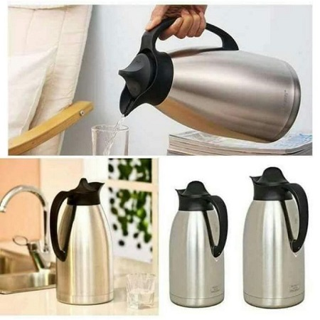 Always 2L Vacuum Thermos Flask - Stainless Steel Silver