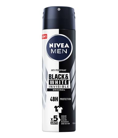 Nivea Black & White Invisible Original Spray for Men 150ml
