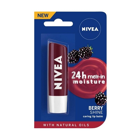 Nivea Fruity Shine black berry Lip balm