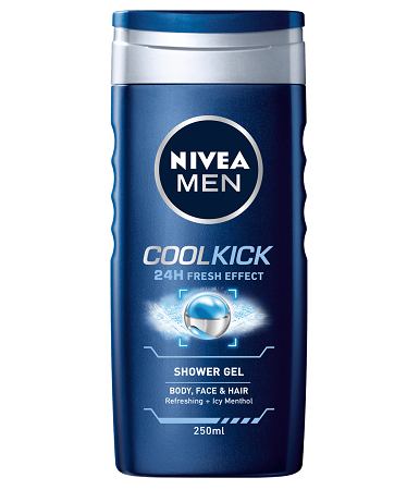 Nivea Shower Cool Kick For Men 250ml