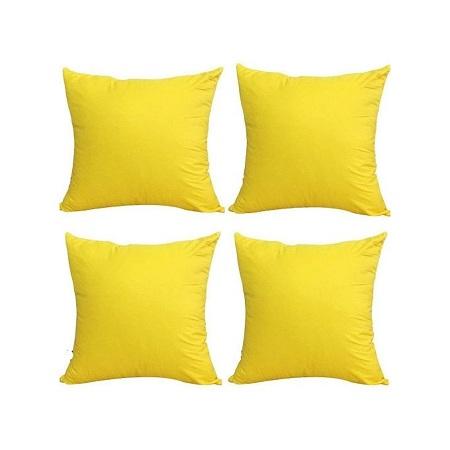 Fashion Throw Pillows/Cushions 4pcs Yellow