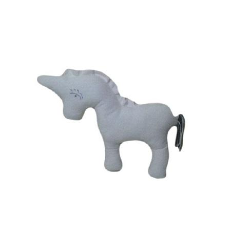 Fashion Unicorn stuffed animal toy cream white interactive play toy 2pieces
