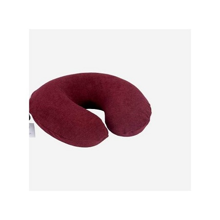 Generic Adult Travelling Neck Pillow - Dark Maroon