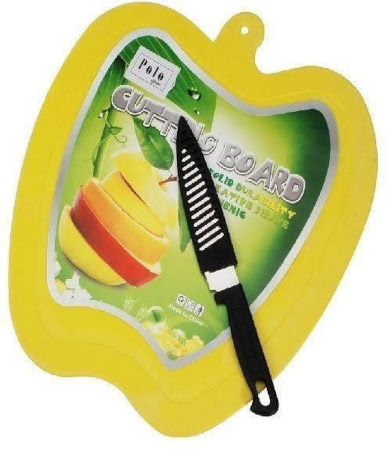 Apple Chopping Board With Knife
