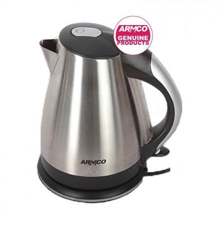 Armco AKT-1821LED(SS) Cordless Electric Kettle - 1.8L - LED - 1800W - Silver & Black