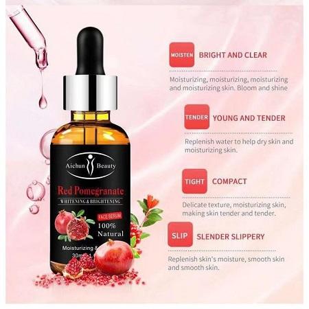 Aichun Beauty Red Pomegranate Serum,whitening,anti-wrinkle,anti-freckle