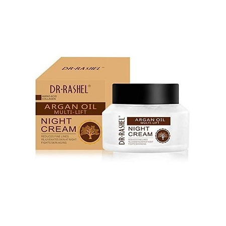 Dr. Rashel Argan oil Night Cream For Fine Lines, Wrinkle Amino Acid Collagen Face Cream Multi Lift Moisture Whitening Cream 50g.
