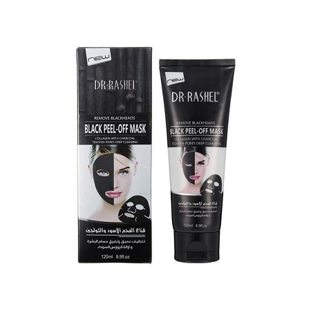 Dr. Rashel Suction Black Mask Black head Remover Peel Off Facial Mask Acne Treatment Collagen With Bamboo Charcoal 120 ML