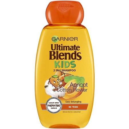Garnier Ultimate Blends Kids 2in1 Shampoo Apricot & Cotton Flower