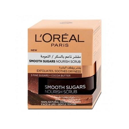 L'Oreal Smooth Sugar Nourish Cocoa Face And Lip Scrub 50ml