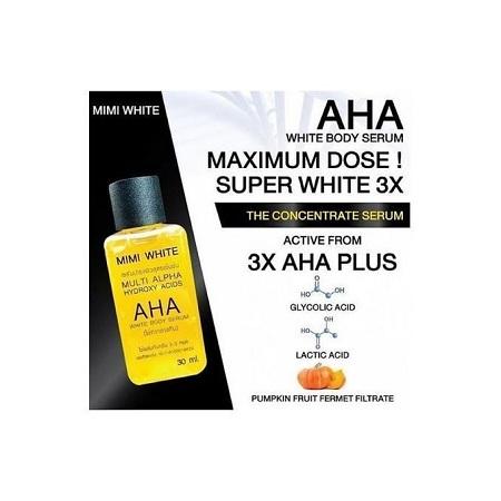 Mimi White Authentic AHA Fast Whitening Body Serum-30ml