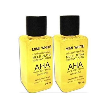 Mimi White Multi Alpha Hydroxy Acids AHA Whitening Body Serum