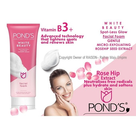Pond's White Beauty Spotless Glow Facial Foam-rosehip Seed Extract