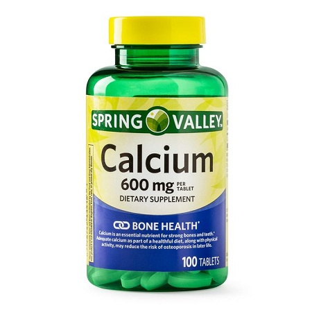 Spring valley Calcium Tablets, 600 Mg, 100 Ct-Bone Health