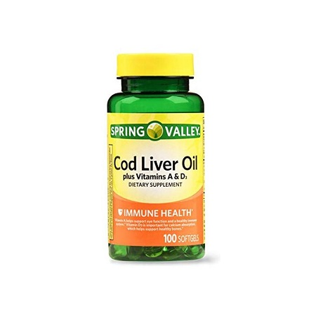 Spring valley Cod Liver Oil With Vitamin A & D 100 Softgels