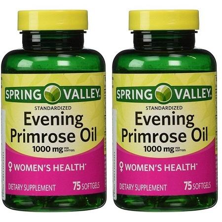 Spring valley Evening Primrose Oil, 1,000mg,GLA&B6,SUPPORT SKIN&METABOLISM
